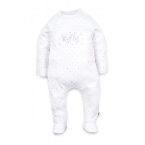 """Человечек боковой: Pima Cotton """"Toys"""" White Sleepsuit"""