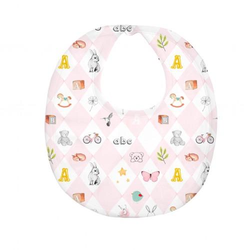 Слюнявчик: Pima Cotton Pink Toys Bib BIB003