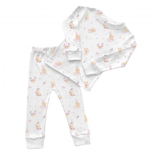 Пижама: Pima Cotton Pink Bears