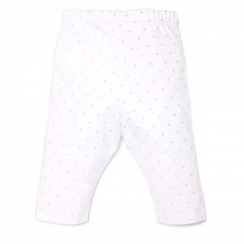 Pima Cotton Basic White Pants L003
