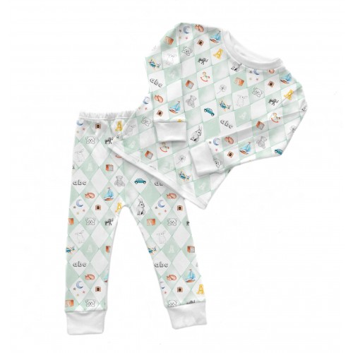 Пижама: Pima Cotton Blue Toys Pyjama PJ001