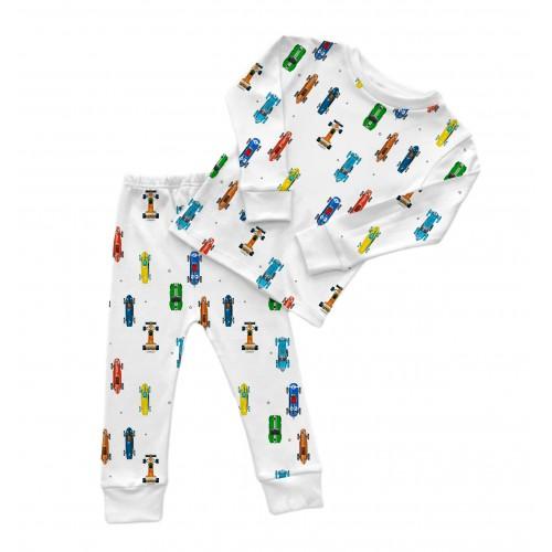 Пижама: Pima Cotton Formula One (White) Pyjama PJ001