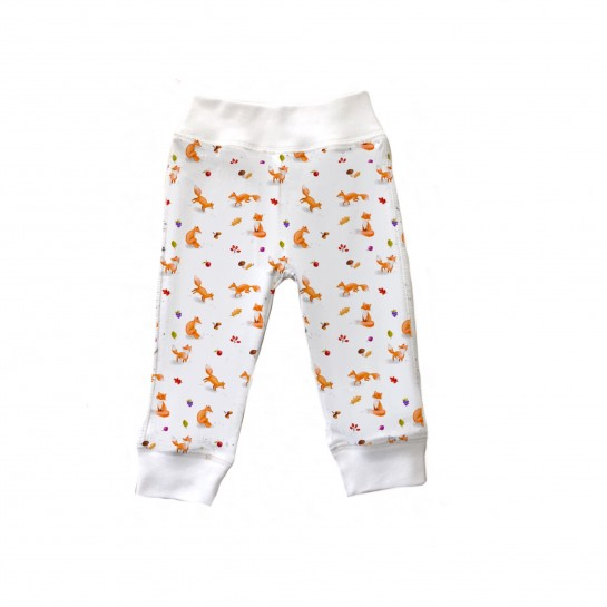 Штанишки: Pima Cotton Foxes Pants BR001