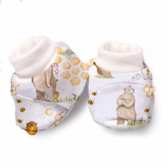 Пинетки: Pima Cotton Bears and Honey Booties BT001