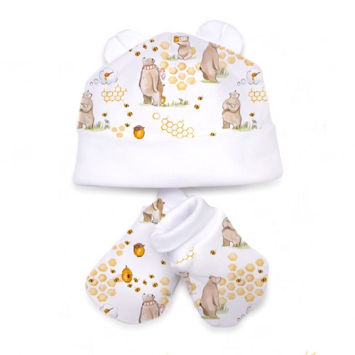 Шапочка: Pima Cotton Bears and Honey Hat