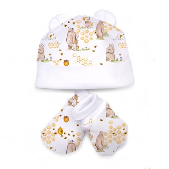 Шапочка: Pima Cotton Bears and Honey Hat