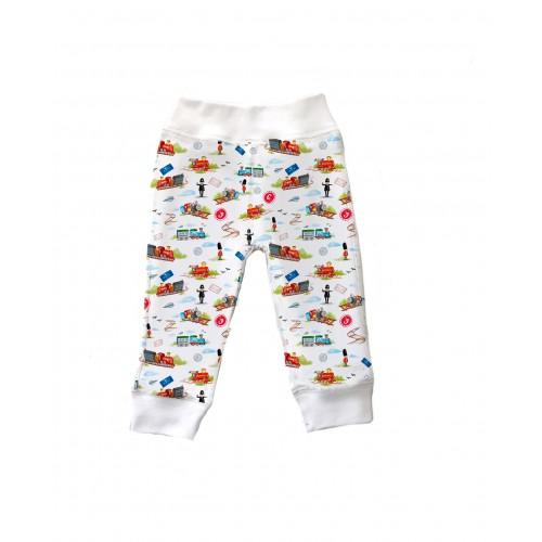 Штанишки: Pima Cotton Little Train Pants BR001