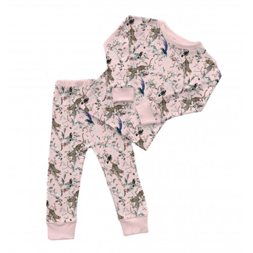Пижама: Pima Cotton Vintage Jaguar Pink Pyjama PJ001