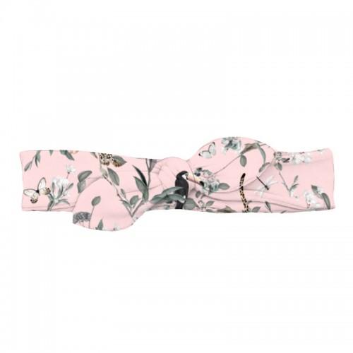 Повязка-Бант: Pima Cotton Vintage Jaguar Pink