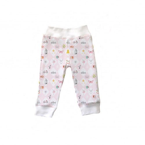 Штанишки: Pima Cotton Pink Toys Pants BR001