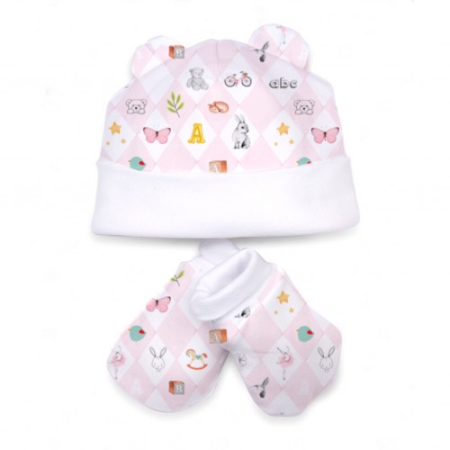Шапочка: Pima Cotton Pink Toys Hat