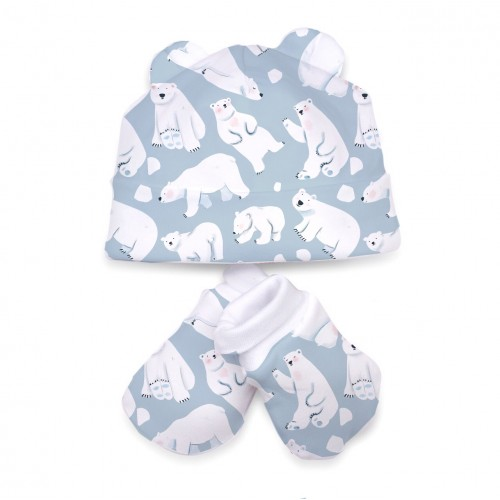 Шапочка: Pima Cotton Snow Bears Hat