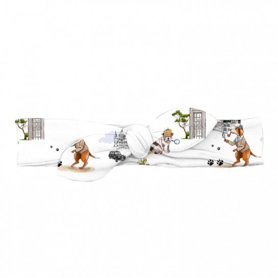 Повязка-бант: Pima Cotton Sherlock Dogs BOW001