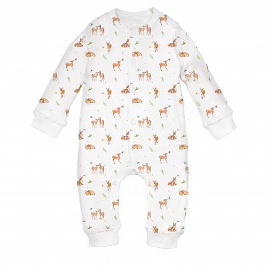 Ромпер: Pima Cotton Baby Deer Romper K060