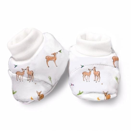 Пинетки: Pima Cotton Baby Deer Booties BT001