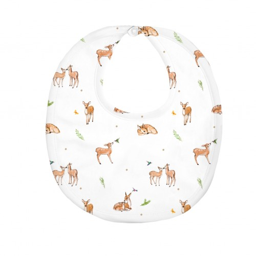 Слюнявчик: Pima Cotton Baby Deer Bib BIB003