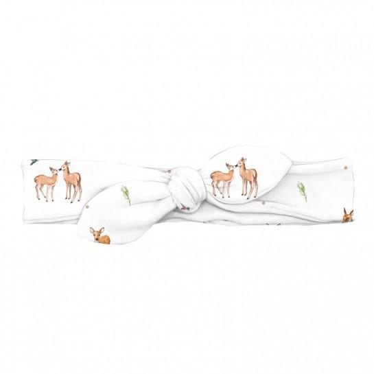 Повязка-бант: Pima Cotton Baby Deer BOW001