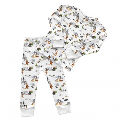Пижама: Pima Cotton Sherlock Dogs Pyjama PJ001