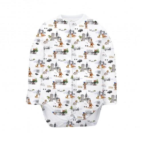 Боди: Pima Cotton Sherlock Dogs Bodysuit