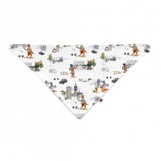 Слюнявчик: Pima Cotton Sherlock Dogs Bib BIB001