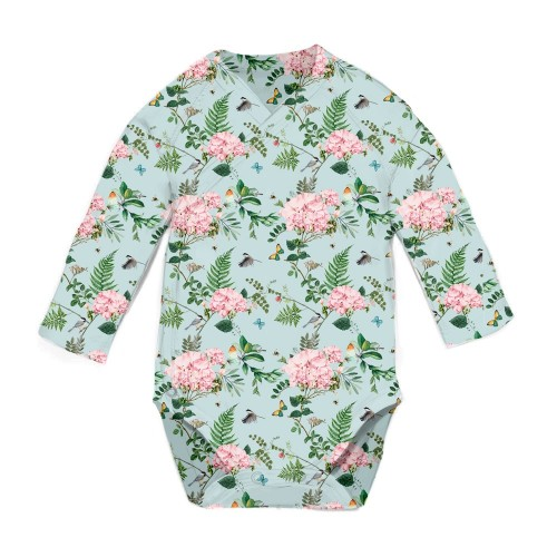 Боди-Кимоно: Pima Cotton Wild Rose